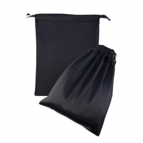 Черный подарочный мешок из атласа для хранения игрушек, 9310002