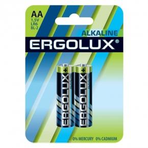 "Батарейки алкалиновые ""Ergolux"" тип АА, 2шт., ERGOLUX-AA"