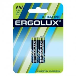 "Батарейки алкалиновые ""Ergolux"" тип ААА, 2шт., ERGOLUX-AAA"