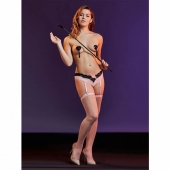 Эротический комплект из трусиков с подвязками и чулок, 42-46, 12459035