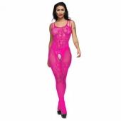 Розовый кэтсьют с доступом к вагинальному, анальному, оральному сексу, 40-54, 16464389