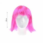 Впечатляющий розовый парик каре для интимной встречи, 16759622