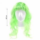 Сексуальный ярко-зеленый парик с длинными волосами, 16836765