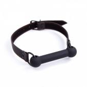 Черный силиконовый кляп-косточка для секс-игры, 222412057