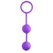 Фиолетовые шарики для интим тренировок, 46701PUR