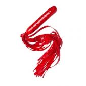 Плеть-ракета красного цвета с рукояткой-фаллосом, 6023-2