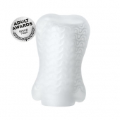 Мастурбатор Pocket Wavy для мужского оргазма, TPR, белый, 7,8 см, 763008