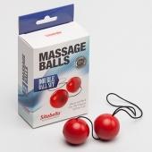 Красные шарики для тренировки мышечных стенок влагалища, 8009-2