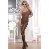 Леопардовый эротический костюм-сетка, 843013