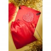Красный подарочный мешок из атласа для хранения игрушек, 9310003