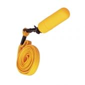 Маленький желтый вибратор с практичным ремешком, 931010-11