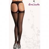Эротические колготки черного цвета с вырезами на попке, 933106