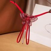 Возбуждающие трусики для девушек желающих украсить свое влагалище, красные, A042