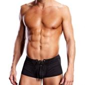 Эротические мужские черные боксеры на шнуровке, S/M, BLM004-BLKSM