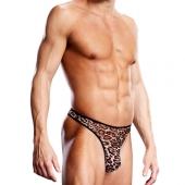 Мужские G-стринги с леопардовым принтом, S/M, BLM011-LEOSM