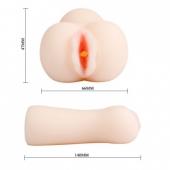 Мастурбатор с большими половыми губками и внутренним рельефом, BM-009166