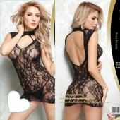 Красивое ультракороткое платье с изящным рисунком и голой спиной, S-L, DJ_6144