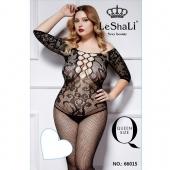 Слитный комбинезон для секса с крупной сеткой на груди, размер 50-56, DJ_66015