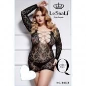 Сетчатое платье со шнуровкой на груди для сексуального образа, размер 50-56, DJ_66018