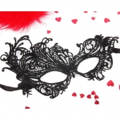 Кружевная сексуальная маска черного цвета, EE-20352