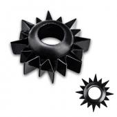 Кольцо на пенис черного цвета, EF-T043-BLK