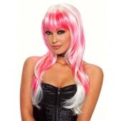 Сексуальный игривый бело-розовый парик Candy, EF-WG-27-PNKWHT