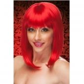 Красный женский парик, J1216