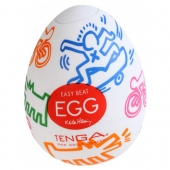 Мужской стимулятор-яйцо Tenga Egg Keith Haring Street, KHE-001