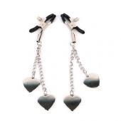 Металлические зажимы-украшение для сосков с сердечками, NTU-80348