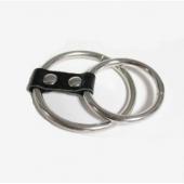 Эрекционная насадка из двух стальных колец, P3076