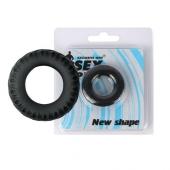 Безвибрационное черное эрекционное кольцо, SEM-55080