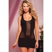 Полупрозрачное короткое платье, STM-9682PBLK