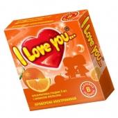 Презервативы I Love You с ароматом апельсина, 3 Шт