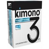 "Классические презервативы ""Kimono"", 3шт, kimono1"