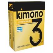 """Супертонкие презервативы """"Kimono"""", 3шт, kimono5"""