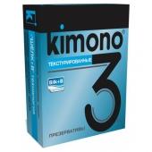 "Текстурированные презервативы ""Kimono"", 3шт, kimono6"