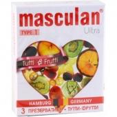 "Презервативы ""Masculan Ultra Tutti Frutti"", цветные с фруктовым ароматом, 3 шт"