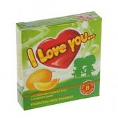 Презервативы I Love You с ароматом дыни, 3 шт